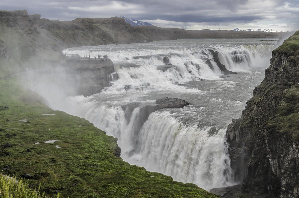 De Dettifoss waterval.